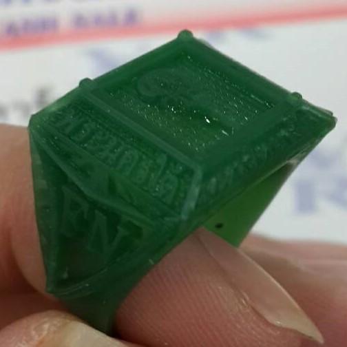 2.2 การสร้างชิ้นงานด้วยการแกะ Wax (CNC)
