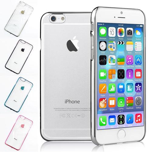 เคสแข็ง ใส ขอบสี เมทัลลิค - เคส iPhone 4 / 4S