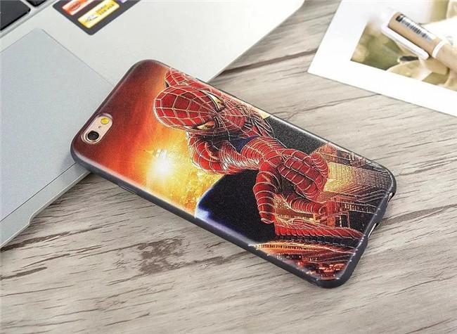 เคสยาง 0.8 มม. Spider Man / Captain America - เคส iPhone 6 / 6S