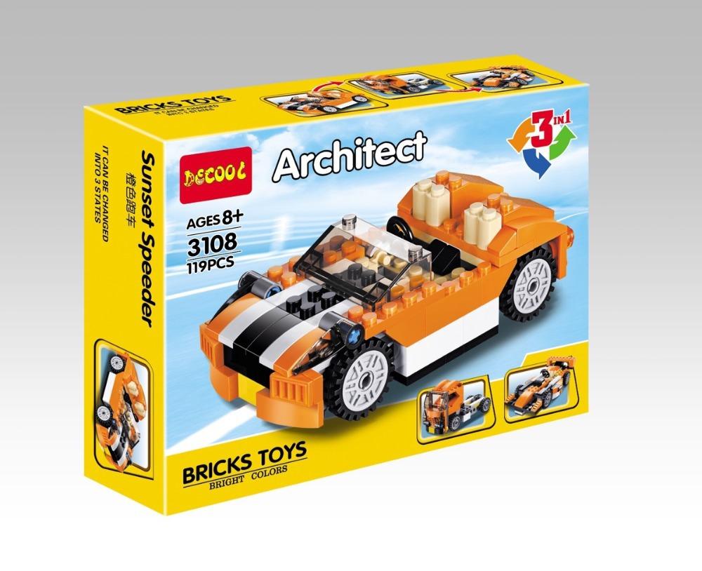 3108 ตัวต่อ รถเก๋ง 3 in 1 เปลี่ยนเป็นหัวรถบรรทุกและรถแข่งได้