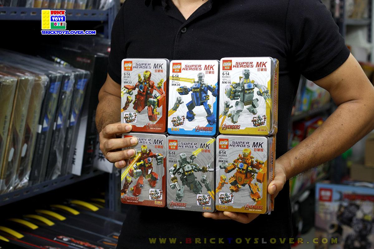 690 มินิฟิกเกอร์ ชุดเกราะ Iron man Mark ต่างๆในกล่องเหล็ก เซ็ต 6 กล่อง