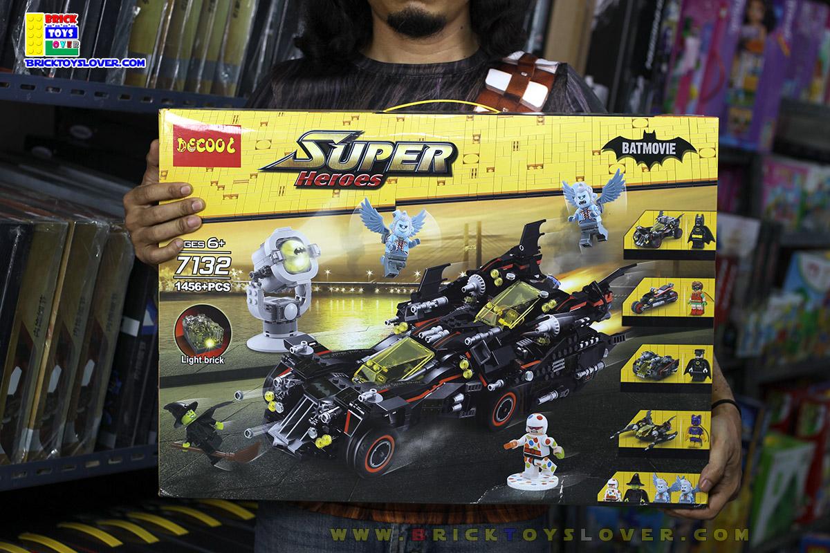 7132 Super Hero Batman รถแบทแมน The Ultimate Batmobile แยกเป็นรถ 4 คัน