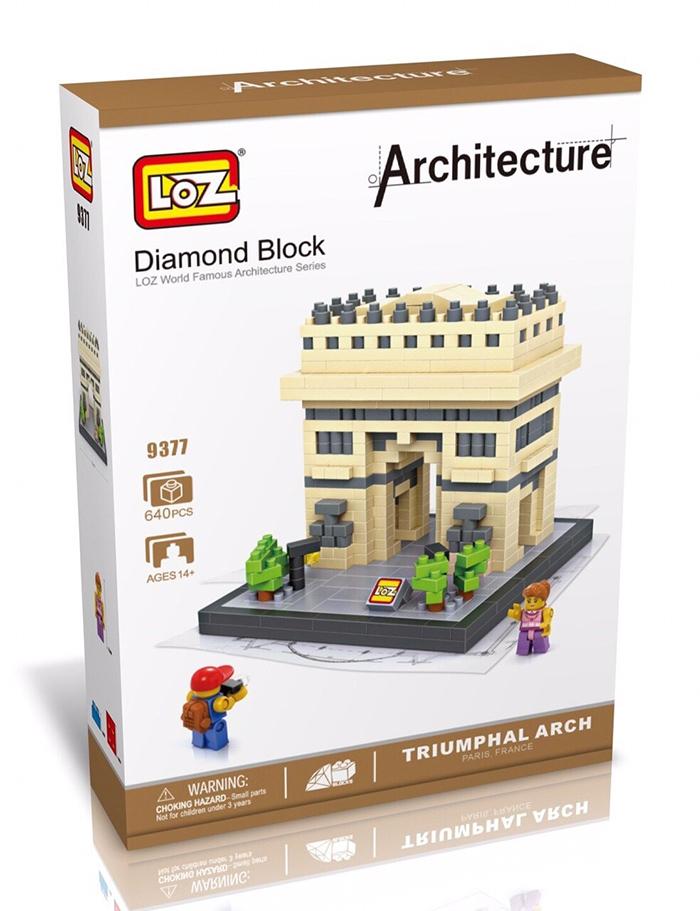 มินิบล็อก LOZ เลโก้จีน 9377 ราคาถูก Triumphal Arch