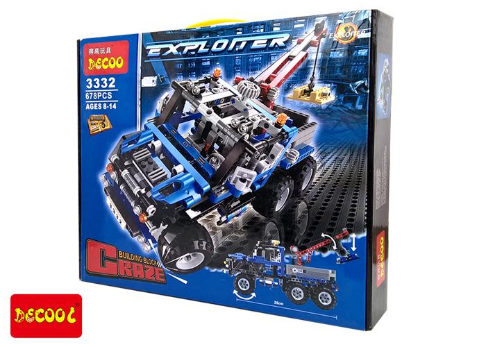 3332 ตัวต่อ Exploiture รถลาก Trow Truck สีน้ำเงิน