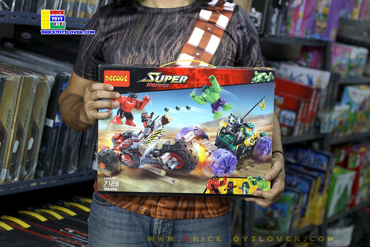 7125 ตัวต่อ Super Hero เดอะฮัลค Hulk vs Red Hulk