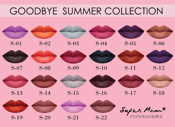 ( พร้อมส่ง ) Supermom Goodbye Summer Collection Matte Liquid Lipstick