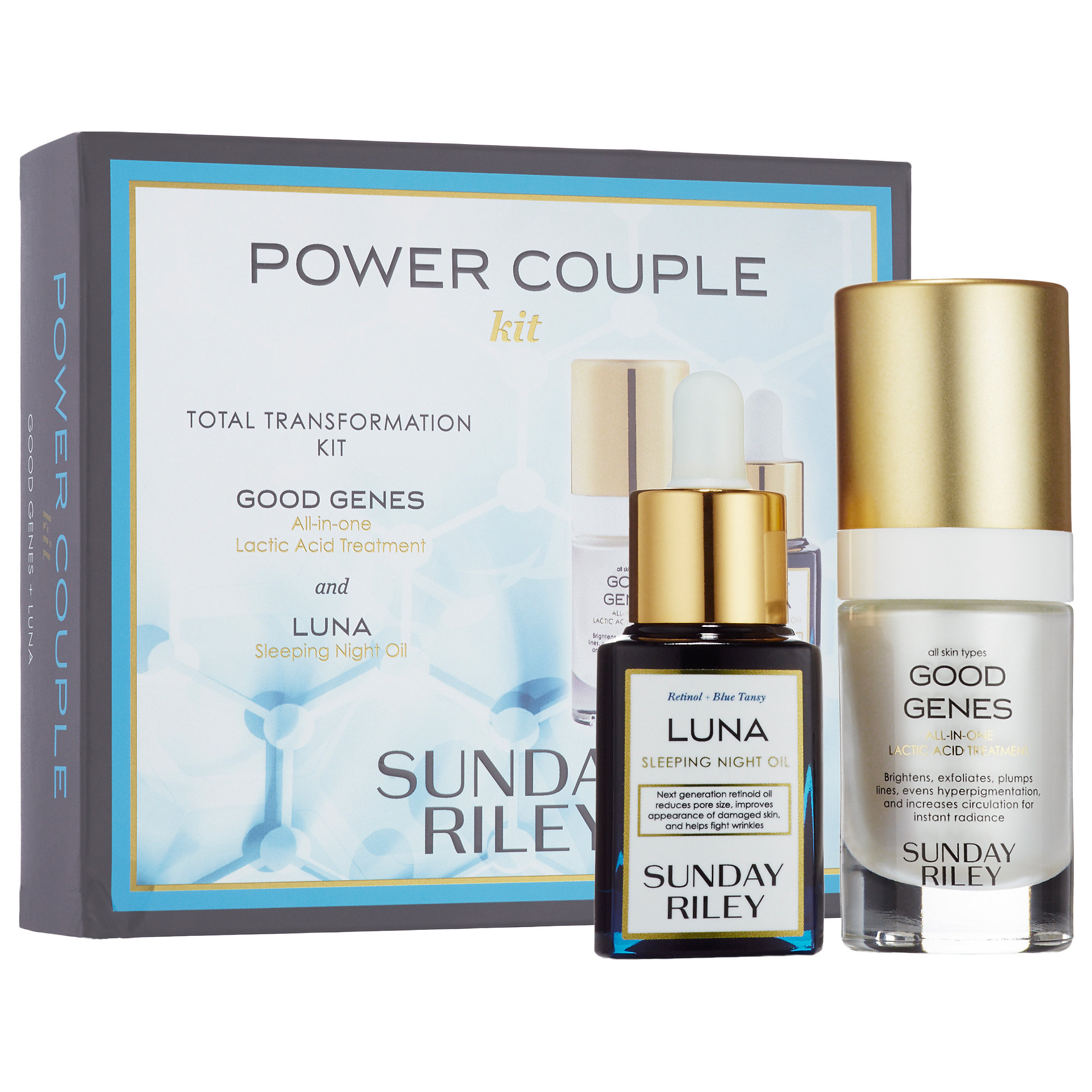 ( พรีออเดอร์ ) Sunday Riley Power Couple Duo: Total Transformation Kit