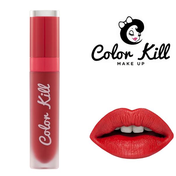 (พร้อมส่ง) COLOR KILL MEGA MATTE LIQUID LIPSTICK สี INDIE RED