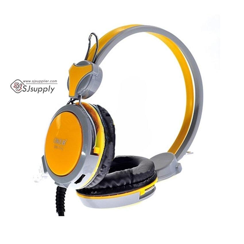 หูฟังครอบหู OKER รุ่น SM-712 สีเหลือง