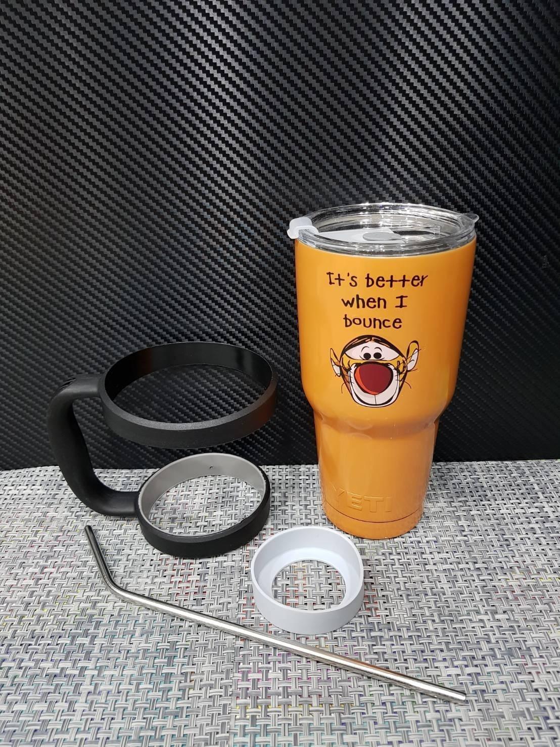 ชุดแก้วเยติ 30 ออนซ์ พื้นสีส้ม ลายการ์ตูน ทิคเกอร์
