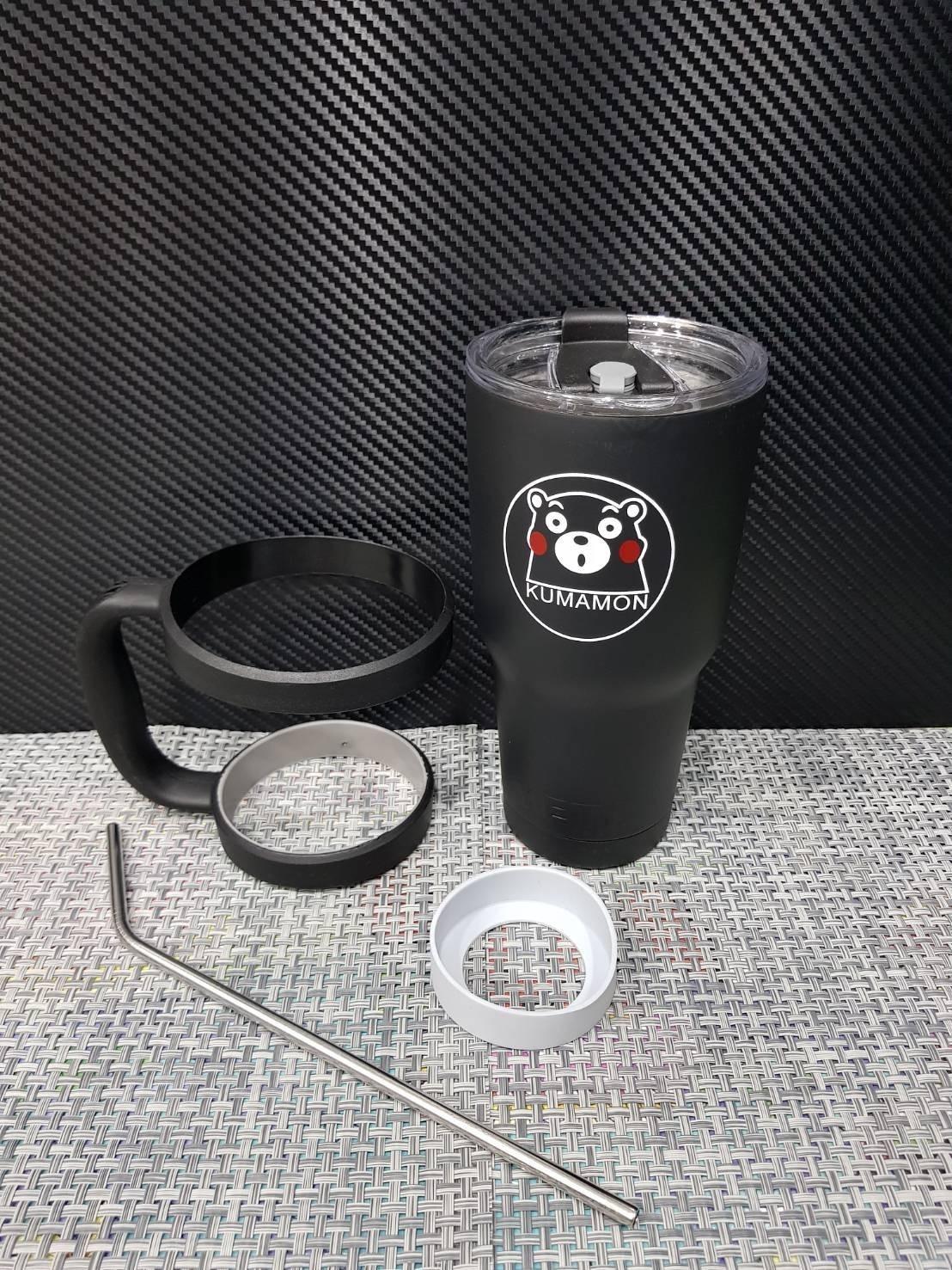 ชุดแก้วเยติ 30 ออนซ์ พื้นสีดำ ลายการ์ตูน Kumamon