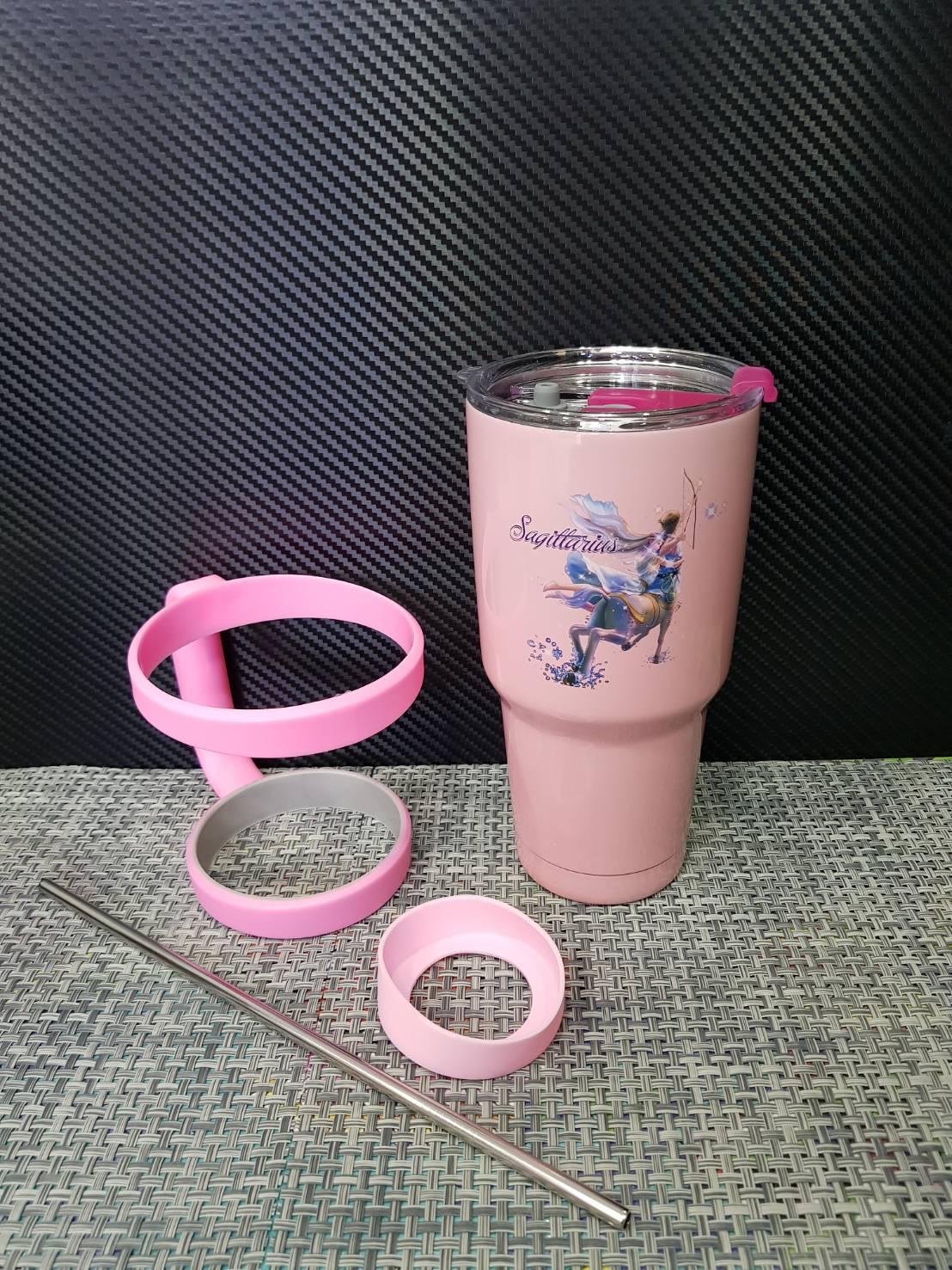 ชุดแก้วเยติ 30 ออนซ์ พื้นสีชมพู ราศีธนู
