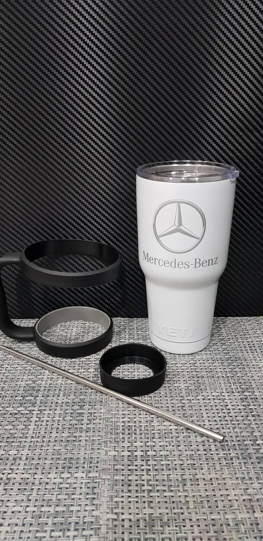 ชุดแก้วเยติ 30 ออนซ์ พื้นสีขาว โลโก้ Benz