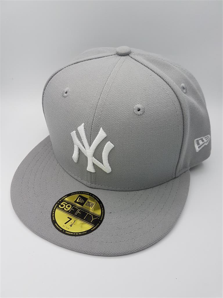 หมวก New Era ทีม New York Yankees รุ่น 59FIFTY ( ไซส์ 7 1/4 57.7 cm ) สีเทา