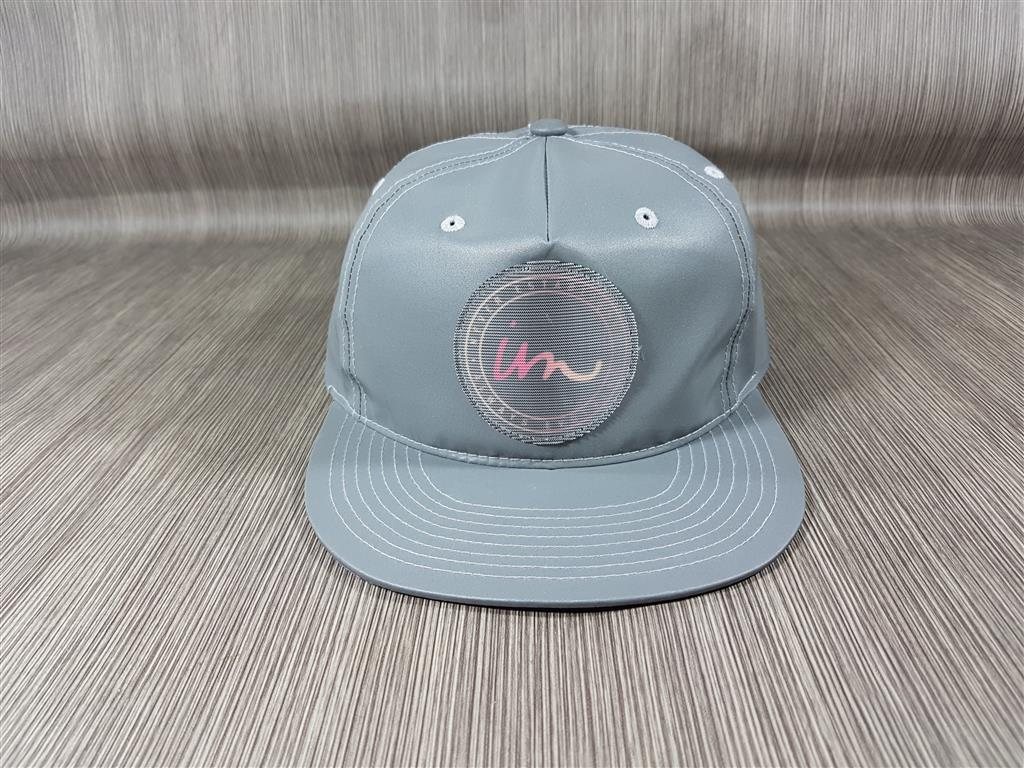 หมวก สีเทาอาร์มกลม (ไม่ทราบยี่ห้อ) ฟรีไซส์ สายปรับเลื่อน