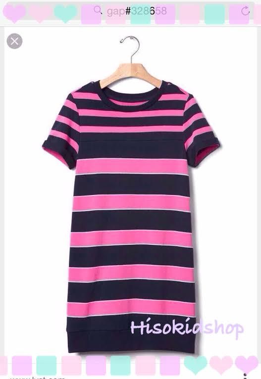 1676 Gap Kids Striped Dress - Pink ขนาด S(6-7) ปี