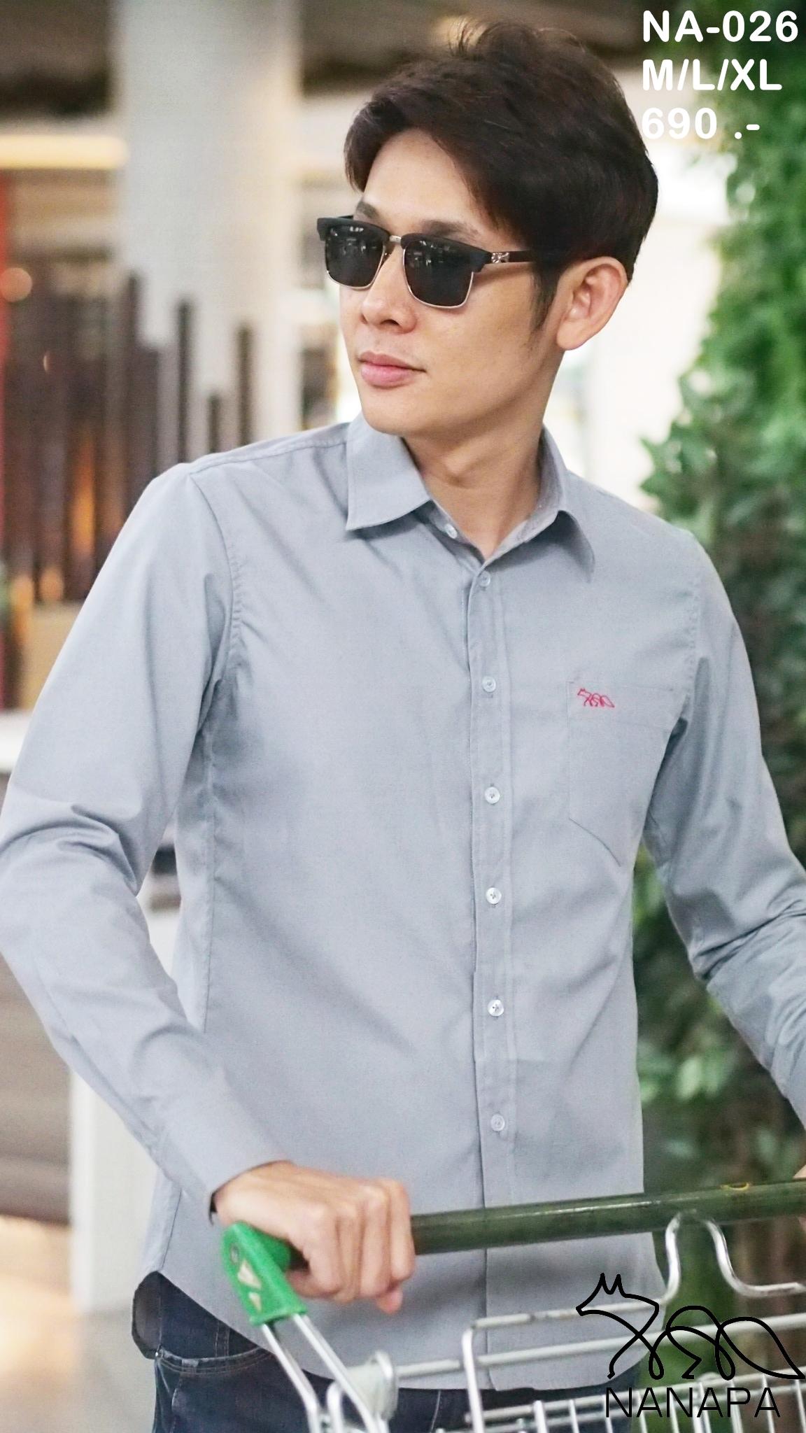เสื้อเชิ้ตแขนยาว ชาย NANAPA Shirts NA-026