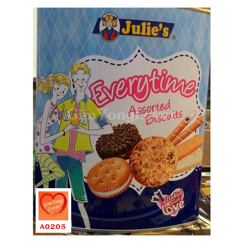 จูลี่ส์ บิสกิตรวมรสหลายแบบ (Julie's Everytime Assorted Biscuits)