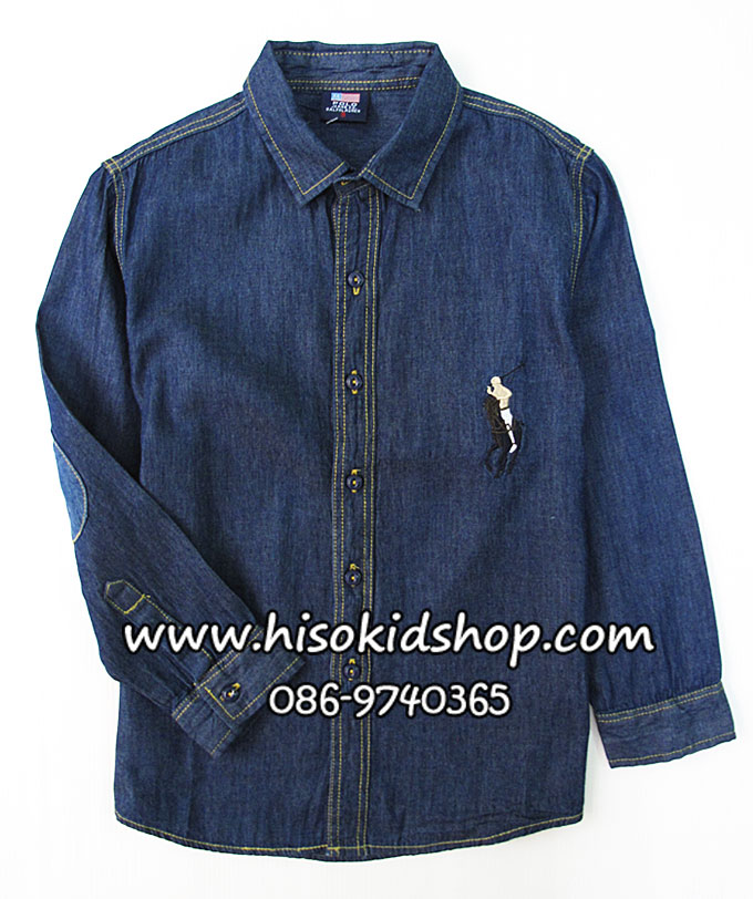 1142 Polo By Ralph Lauren Shirt - Dark Blue ขนาด 7 ปี