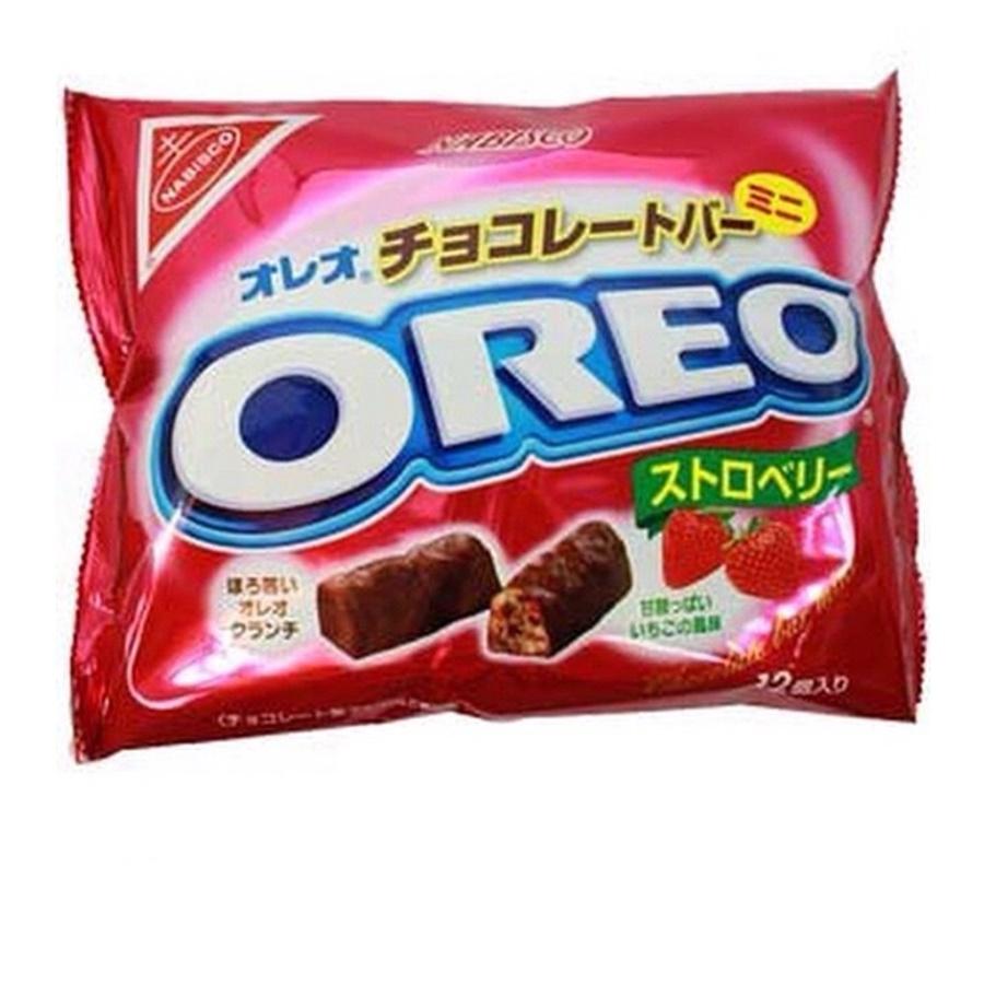 โอรีโอ้ ช็อคโกแลตมินิบาร์ สอดไส้ตรอเบอรี่ (Nabisco Oreo Mini Bar Strawberry Chocolate)