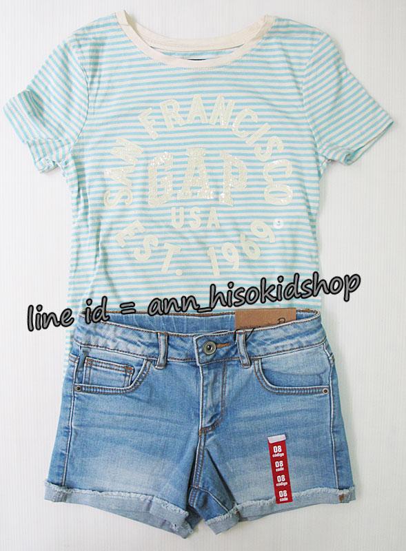 SP026 Gap Kids T-Shirt + Zara Kids short jeans sz 8-10 ปี