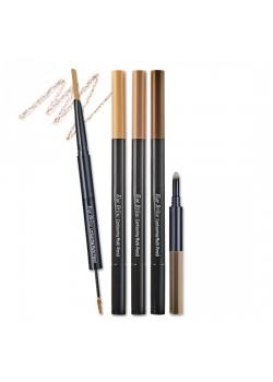 {พร้อมส่ง} Etude eyebrow contouring multi pencil #สี3 ดินสอเขียนคิ้วแบบ 3 in 1 ที่รวมดินสอเขียนคิ้ว+มาสคาร่าปัดคิ้ว+ไฮไลท์เนื้อครีมในแท่งเดียว