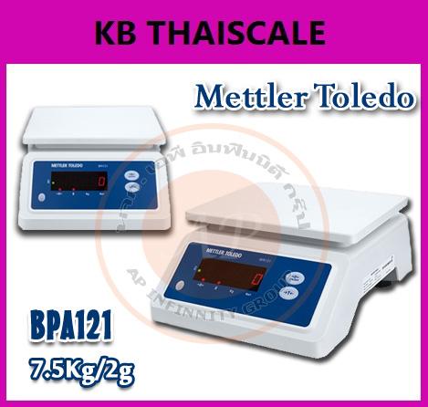 เครื่องชั่งกันน้ำ แบบตั้งโต๊ะ เครื่องชั่งน้ำหนักดิจิตอล แบบกันน้ำได้ 7.5 โล ความละเอียด 2 กรัม รุ่น BPA121ยี่ห้อ Mettler Toledo
