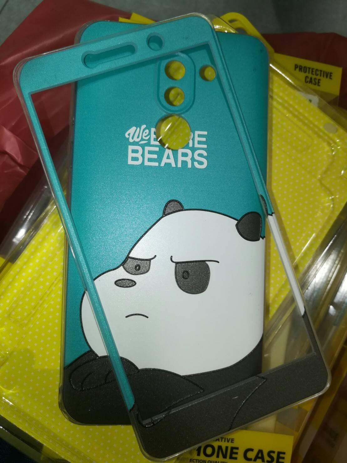 เคส Huawei GR5 2017 เคสประกบนิ่มพิมพ์ลายนูน [หลังนิ่มหน้าแข็ง]