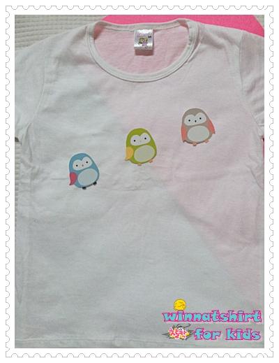 เสื้อยืดเด็ก ลายนกฮูก แบบที่ 3 Size L