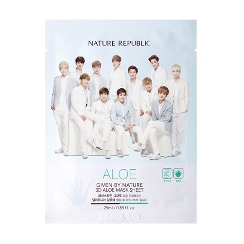 EXO_GIVEN BY NATURE 3D ALOE Mask Sheet (1p) (มาร์คหน้า)