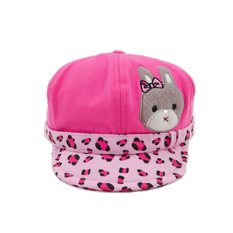 หมวกสีบานเย็นลายกระต่าย แพ็ค 3 ชิ้น
