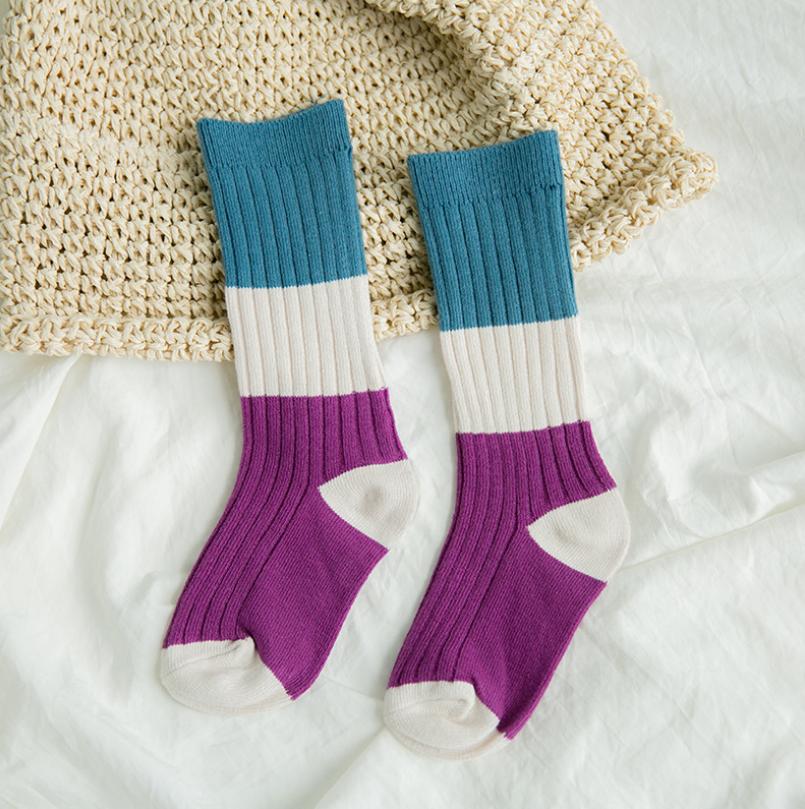 ถุงเท้ายาว แบบที่7 แพ็ค 12คู่ ไซส์ M (ประมาณ 3-5 ปี)