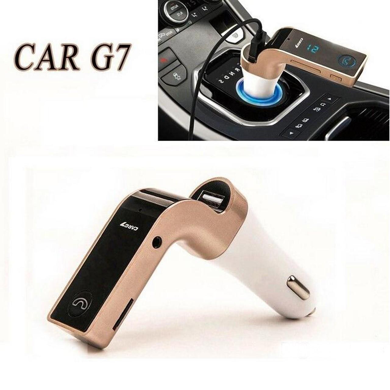 ที่ชาร์จในรถ CAR G7 Bluetooth FM Car สีทอง