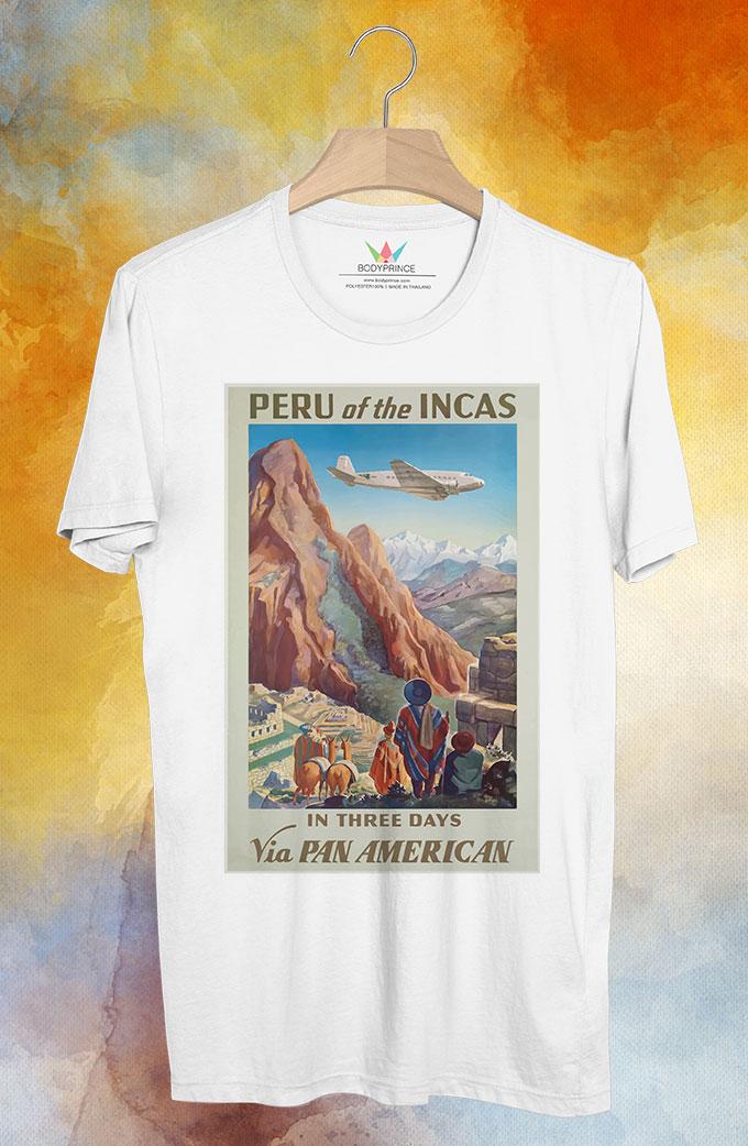 BP126 เสื้อยืด Retro City : Peru