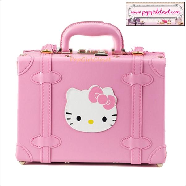 """กระเป๋าสะพายวินเทจสไตล์เกาหลี ดีไซน์วินเทจแบ๊ว สำหรับสาวกคิตตี้โดยเฉพาะเลยค่า มี 2 ไซส์ 12"""" และ 15"""" สีชมพู BABY PINK Beauty Bag Vintage Korea Style (Pre-order ราคาสินค้าอยู่ด้านใน)"""