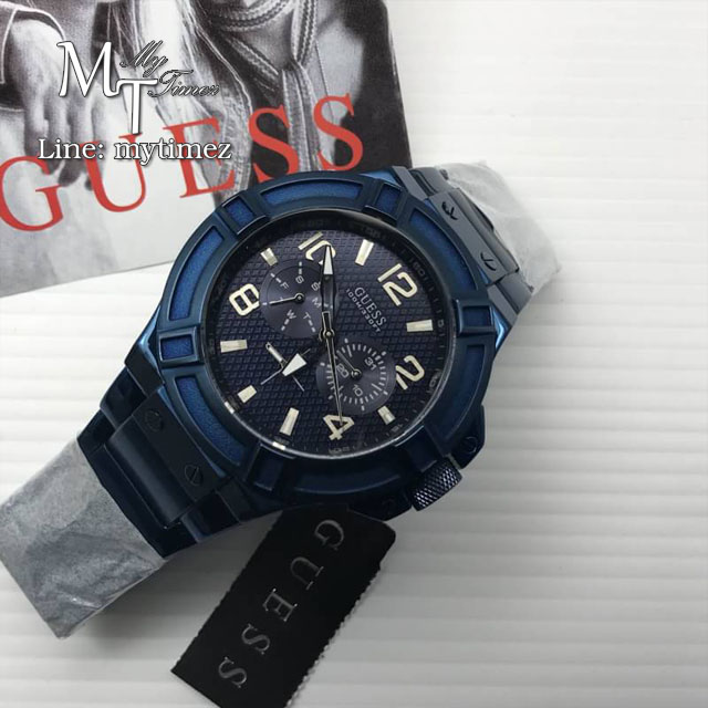 Men's Guess Rigor X Tiesto Watch W0041G2- Blue Stainless
