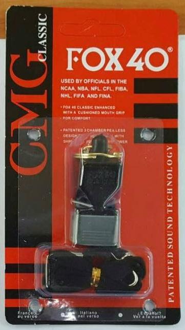 นกหวีด Fox40 CMG classic (สีดำ)