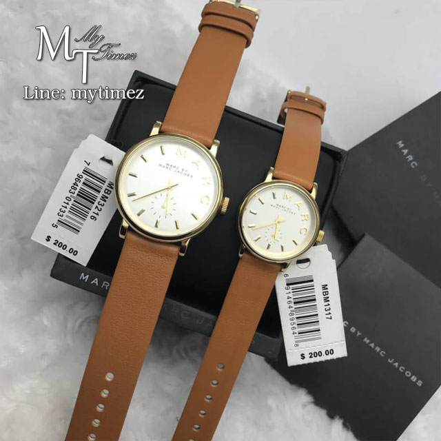 Marc by Marc Jacobs Amy Texter Rose Dial Rose Gold-tone Ladies Watch MBM3216 & MBM1317