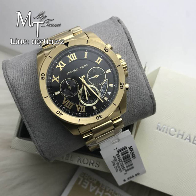 นาฬิกาข้อมือ MICHAEL KORS รุ่น Brecken Black Dial Chronograph Men's Watch MK8481