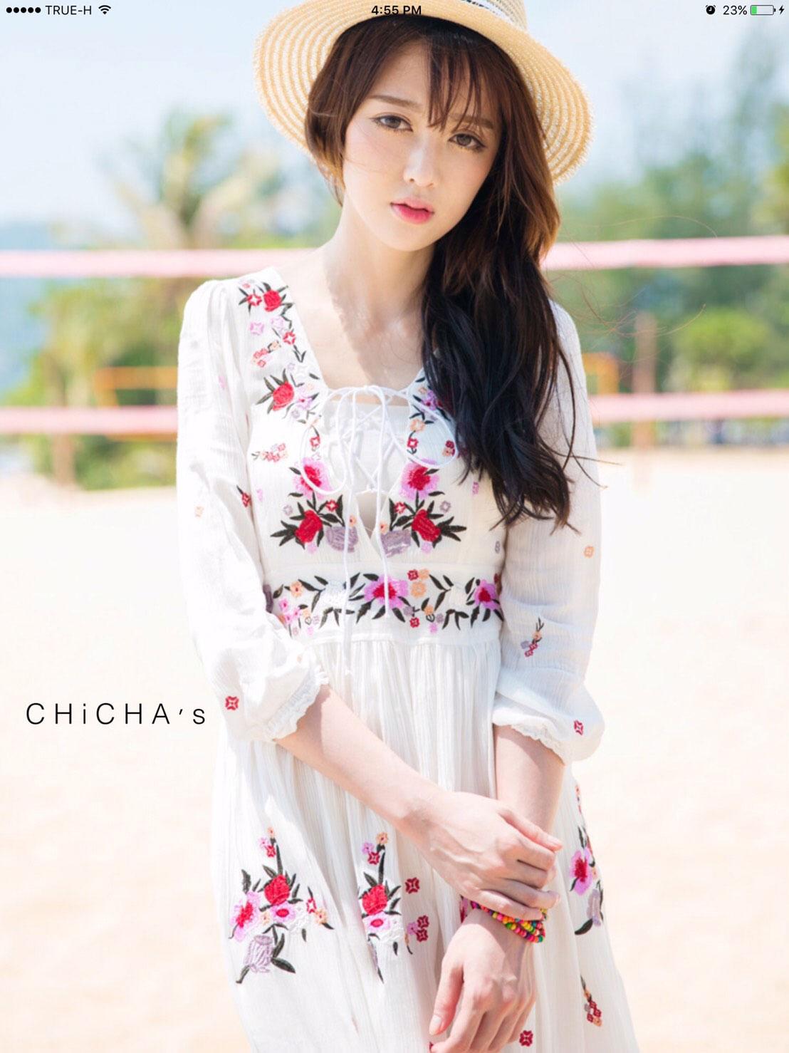 แม็กซี่เดรส Gongyu Embroidery Maxi Dress