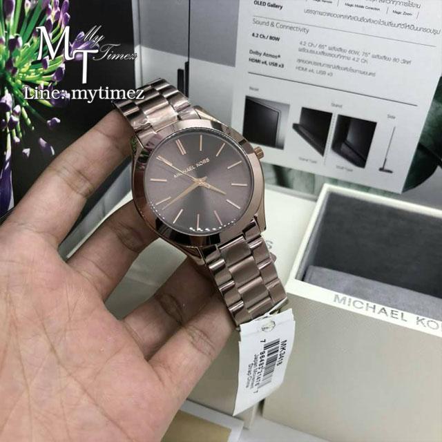 นาฬิกาข้อมือ MICHAEL KORS รุ่น Slim Runway Sable Dial Ladies Dress Watch MK3418