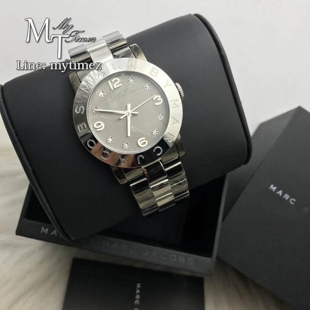 นาฬิกาข้อมือ MARC BY MARC JACOBS Amy Gunmetal Two Tone Watch MBM3196