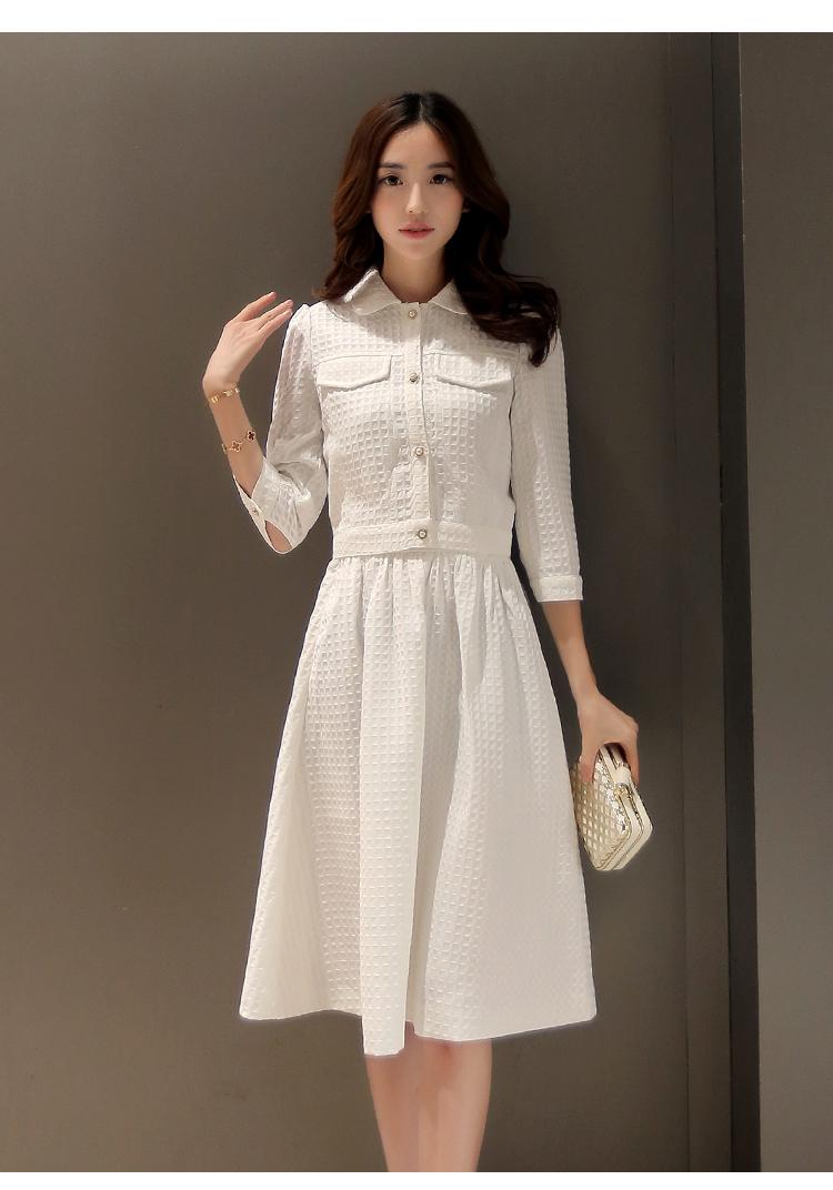 set เสื้อและกระโปรงสีขาว