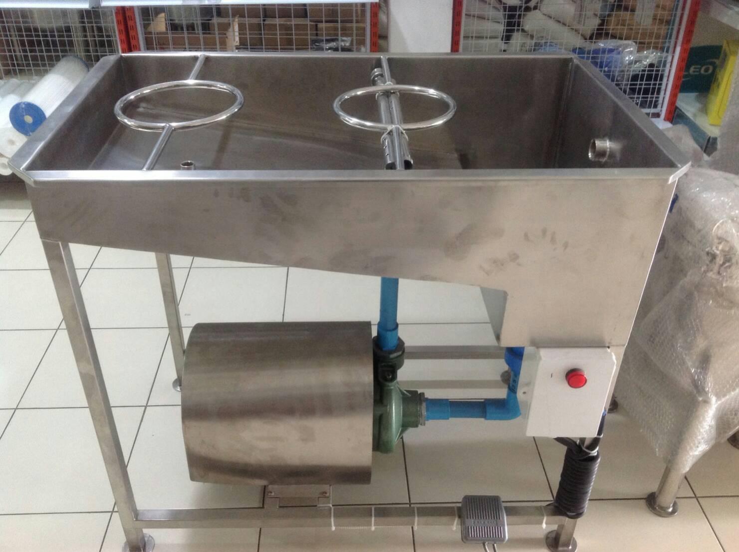 เครื่องล้างขวด + ล้างถังภายใน แบบ 2 in 1