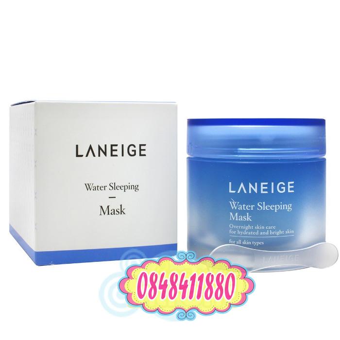 Laneige : Water Sleeping Mask (70 ml.) เจลใสมาส์กหน้าสำหรับทุกสภาพผิว แบบไม่ต้องล้างออก เนื้อเจลเย็น ๆ บางเบา ซึมซาบเร็ว พร้อมกลิ่นหอมอ่อน ๆ ให้ผิวได้ผ่อนคลาย เข้าเติมน้ำให้ผิวขณะนอนหลับ ตื่นรับผิวเด้ง อิ่มน้ำ สัมผัสได้ถึงความนุ่ม ชุ่มชื่น กระจ่างใส