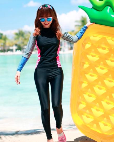 [พร้อมส่ง]BKN-022 ชุดว่ายน้ำแขนยาวขายาว หลากสีสันสวยๆ