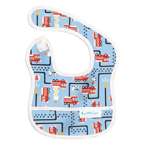 Bumkins ผ้ากันเปื้อนกันน้ำ รุ่น Starter Bib -สี ฟ้า สำหรับน้อง 3-9 เดือน