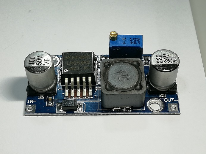 โมดูลแปลงไฟ 4-35V เป็น 1 25-35V / LM2596 DC-to-DC Step down Converter  Module 4-35V to 1 25-35V
