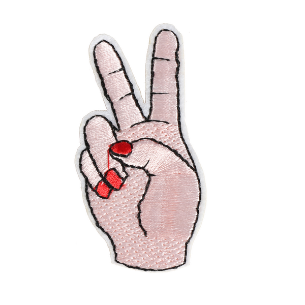 S0034 Peace Fingers Patch 3.1x6.3