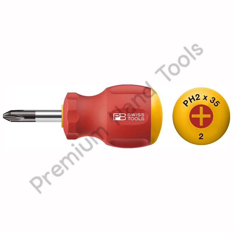 ไขควง PB Swiss Tools รุ่น PB 8195 ปากแฉก เบอร์ 0,1,2 และ 3 ด้ามยาง Stubby